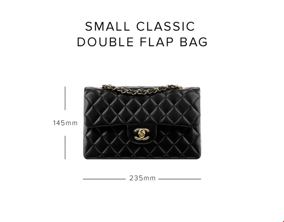 14b74961053 chanel small classic double flap bag size guide