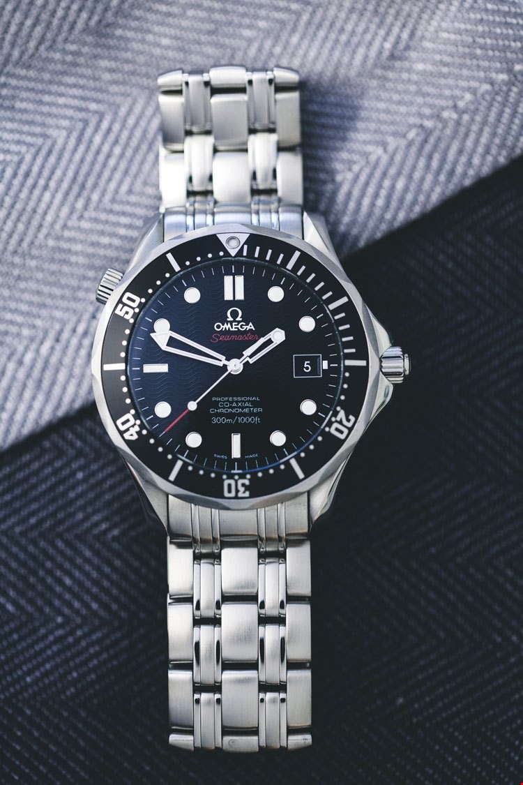 omega seamaster professional co axial black dial