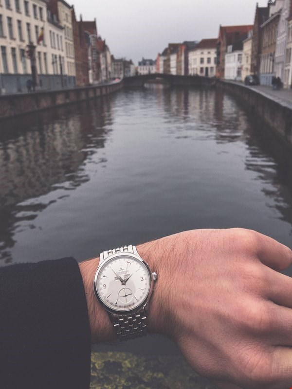 jaeger lecoultre master control triple date in the city of bruges