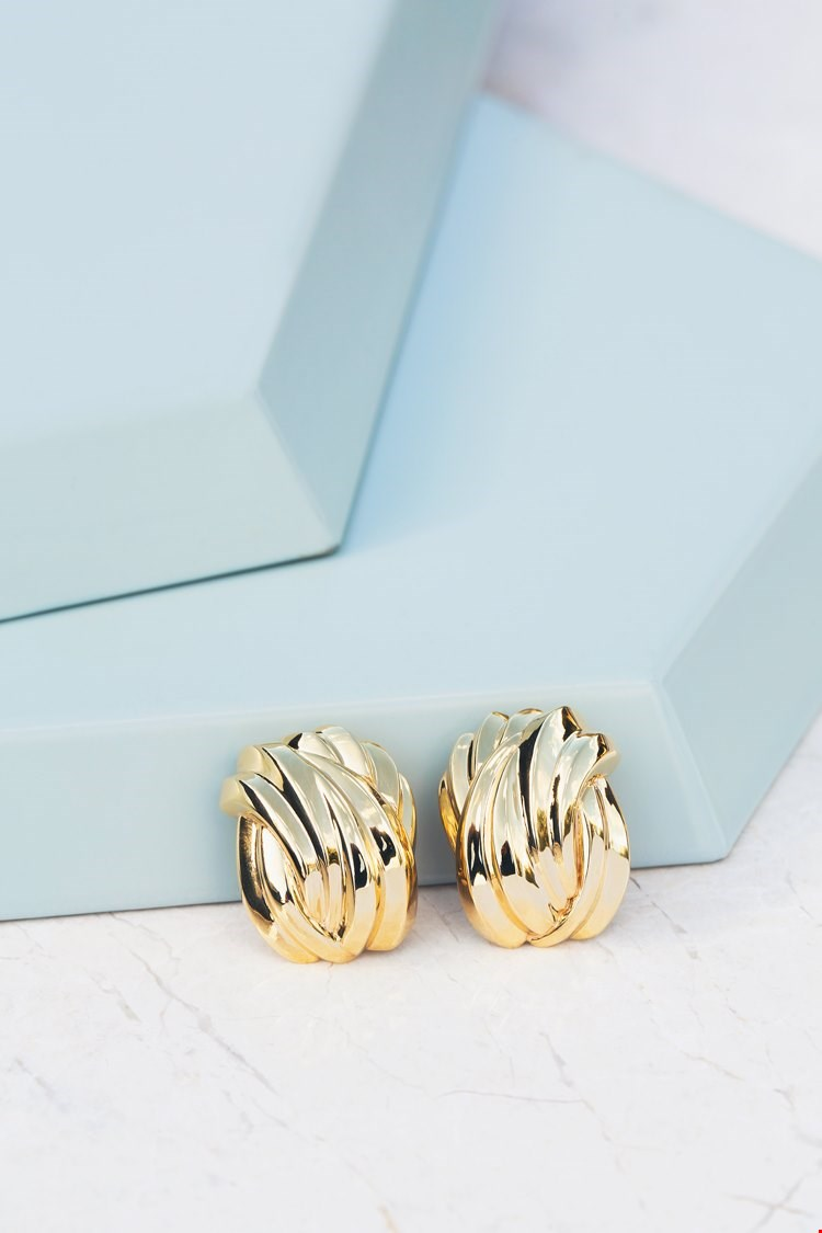 Tiffany & Co.18k Yellow Gold Ear Clips designed by paloma picasso