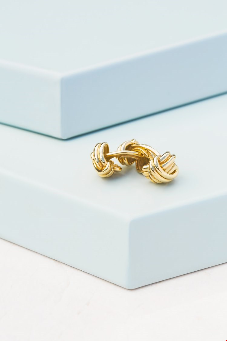 Tiffany & Co. 18k Yellow Gold Knot Cufflinks designed by paloma picasso