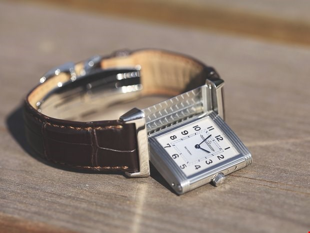 xupes pre-owned JLC Reverso stainless steel