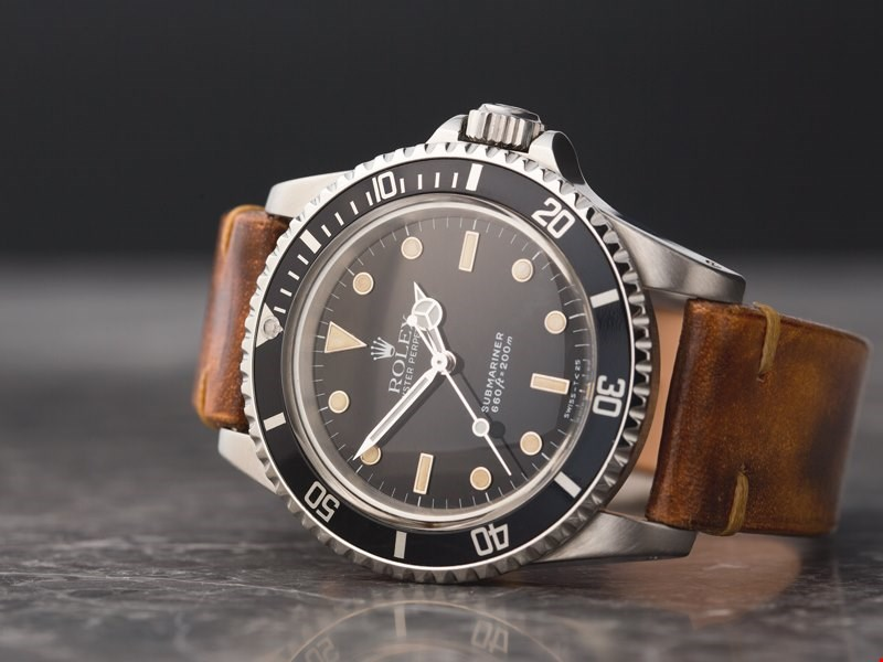 Xupes pre-owned rolex submariner leather strap