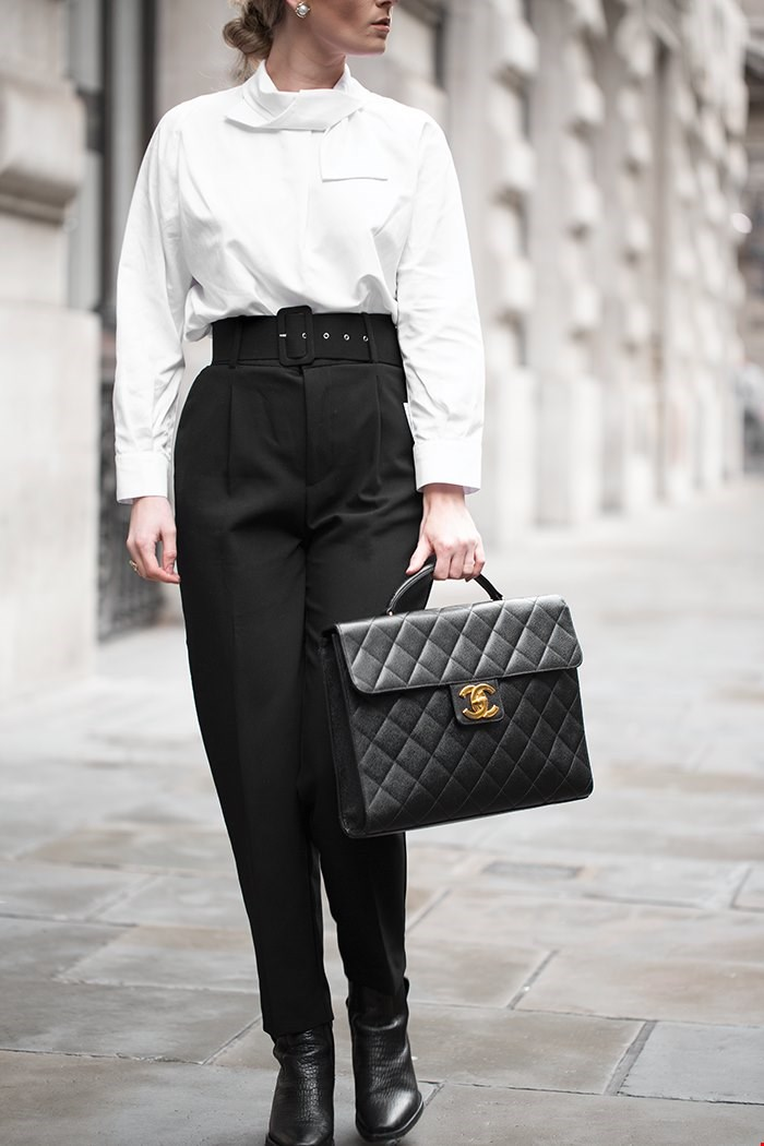 Chanel Caviar leather Jumbo XL classic briefcase