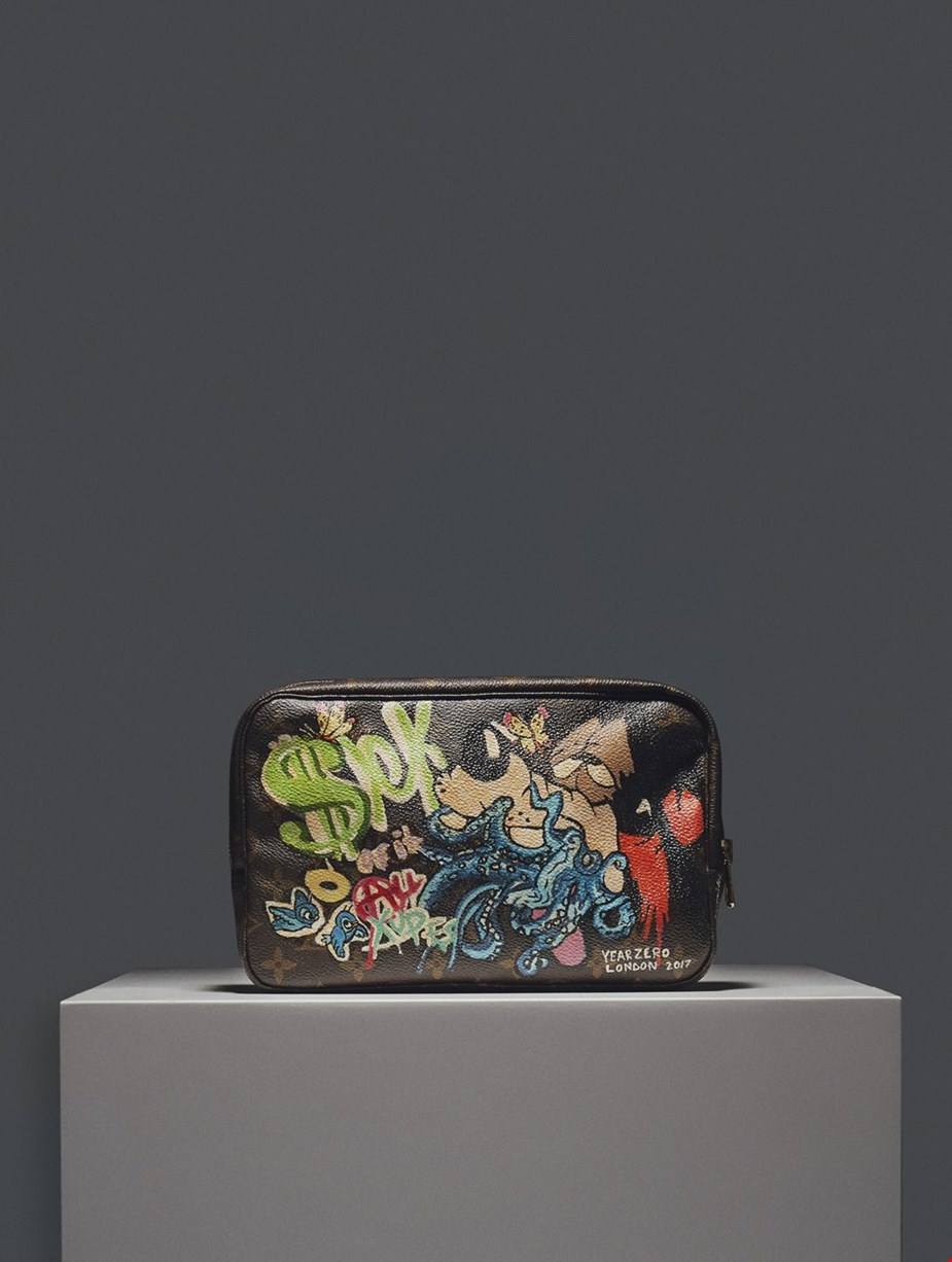 HAND-PAINTED 'SICK OF IT ALL' XUPES X YEAR ZERO LONDON POUCH