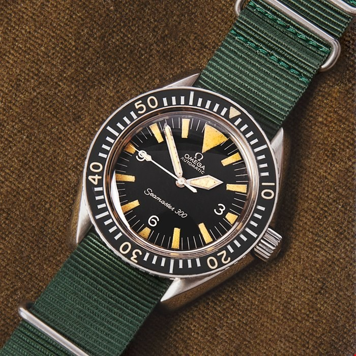 Omega Seamaster Military Stainless Steel Watches