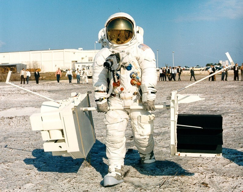 james a lovell during eva training