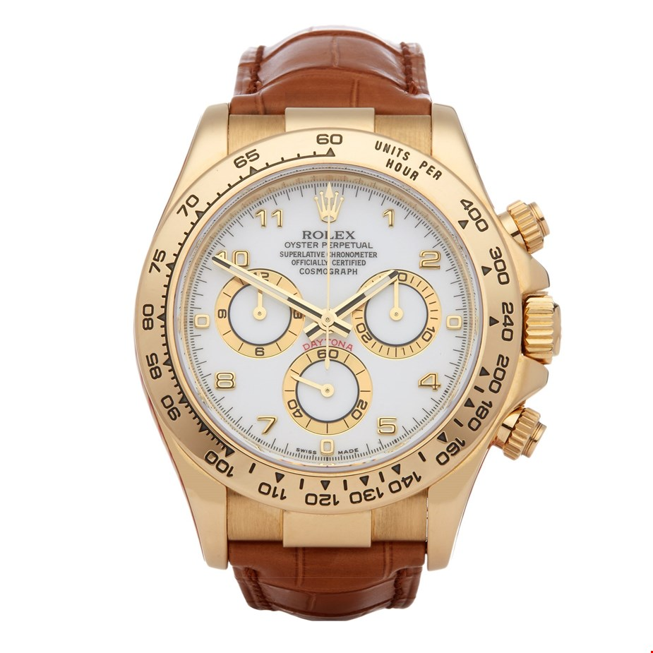 ROLEX DAYTONA COSMOGRAPH 18K YELLOW GOLD 116518
