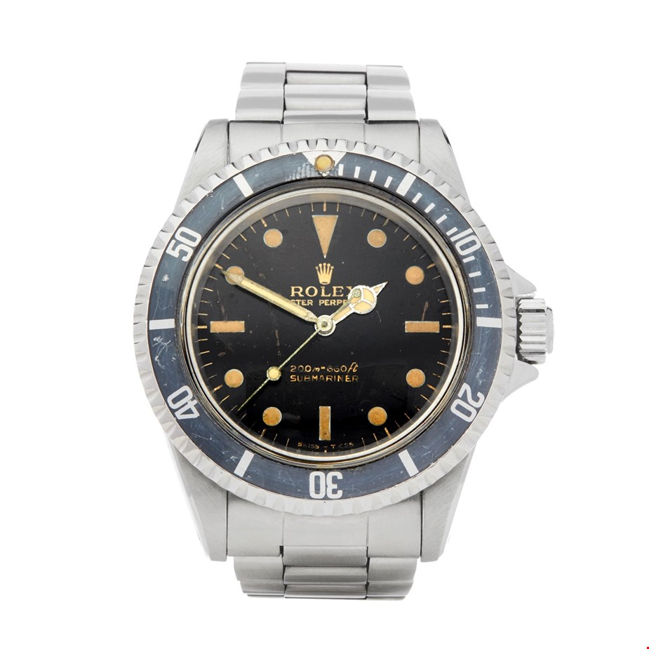 ROLEX SUBMARINER NO DATE GILT GLOSS METERS FIRST STAINLESS STEEL 5513